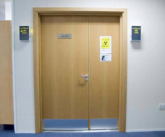 Wooden Lead Lined Door